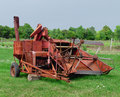 Free Old Rusty Tractor Pulled Combine Royalty Free Stock Photos - 27404158