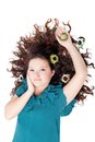 Free Glamorous Brunette Curly Girl Royalty Free Stock Photography - 27404477