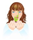 Free Girl With Plant Royalty Free Stock Photos - 27405438