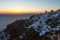 Free Sundown Of Santorini Island Royalty Free Stock Photography - 27409667