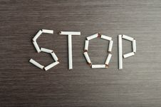 Free Concept Of Dangers Of Smoking. Word Stock Image - 27400081