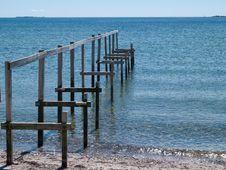 Free Beautiful Seascape Of A Wooden Footbridg Stock Photos - 27401133