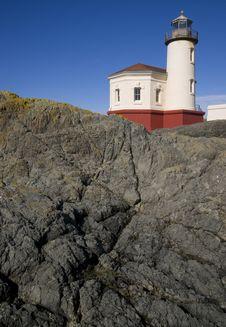 Coquille River Lighthouse Bullards Beach Park Stock Photography