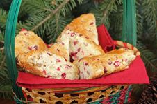 Free Basket Of Cranberry Scones Closeup Royalty Free Stock Photography - 27404057