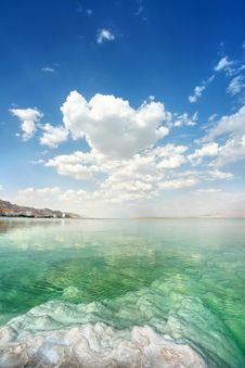 Dead Sea Landscape On A Summer Stock Photography