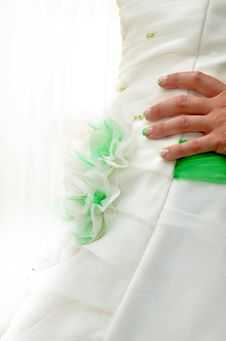 Free Bride Dress And Nails Stock Photography - 27404332