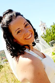 Free Bride Happy Smile Royalty Free Stock Photos - 27404548