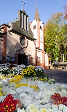 Free Seasonal Cemetery Flowers Stock Images - 27406484