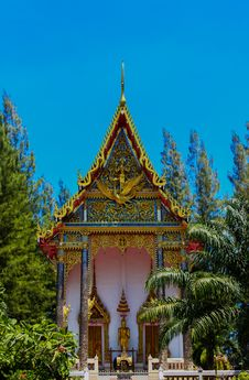 Free Thai Buddhist Church, Srisoonthorn Temple, Phuket Stock Photography - 27409362
