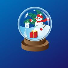 Free Glass Christmas Ball 1 Stock Photo - 27409810