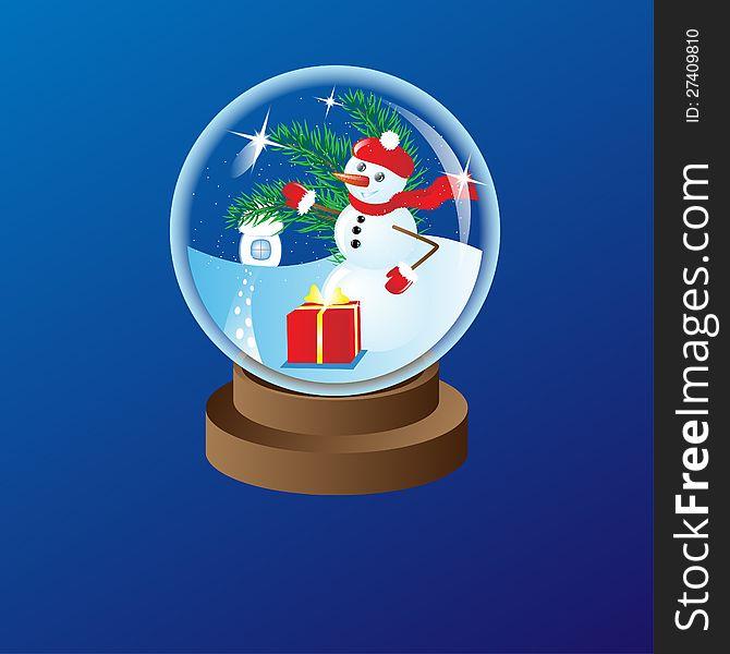 Glass christmas ball 1
