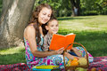 Free Mother And Little Boy Reading Book Together Royalty Free Stock Images - 27413959