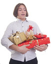 Free Hands Full Of Presents Royalty Free Stock Image - 27416836