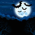 Free Full Moon In The Halloween Stock Photography - 27418092