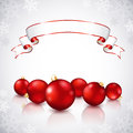 Free Christmas Red Balls Royalty Free Stock Photos - 27418358