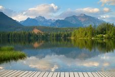 Free Strbske Pleso, Beautiful Lake In High Tatras Mountains Stock Photos - 27410433