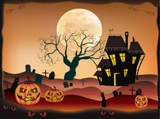 Free Halloween , Postcard . Royalty Free Stock Image - 27410846