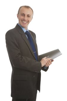 Free Smiling Handsome Business Man Royalty Free Stock Photo - 27413415