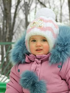 Free Baby In The Winter Time Stock Photo - 27414630