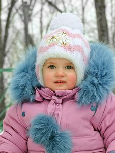 Free Baby In The Winter Time Stock Photo - 27414640