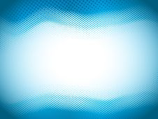 Free Blue Halftone Wave Royalty Free Stock Photography - 27414747