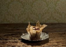 Free Muffin On Silver Plate Royalty Free Stock Photos - 27415148