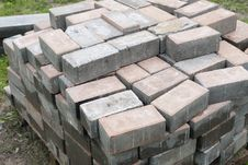 Stack Of Bricks Stock Image