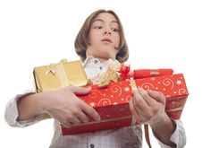 Hands Full Of Presents Royalty Free Stock Photo