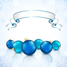 Free Christmas Blue Balls Royalty Free Stock Photo - 27418345