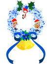 Free Christmas Wreath -Blue- Stock Images - 27420104