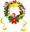 Free Christmas Wreath -Green- Royalty Free Stock Photo - 27420115