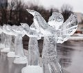 Free Carved Sculpture Of Frozen Angel In Ice Royalty Free Stock Image - 27421156