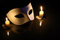 Free Mask And Candles Stock Photography - 27424402
