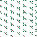 Free Repeating Holly Christmas Pattern Stock Image - 27426171