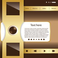 Free Vector Website Design Template Royalty Free Stock Images - 27420509