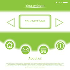 Free Vector Website Design Template Royalty Free Stock Photography - 27420797