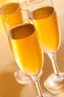 Free Three Glasses Of Champagne Stock Image - 27423111