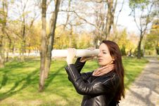 Free Woman Using A Rolled Newspaper To Spy Stock Image - 27423191