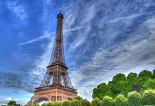 Free Eiffel Tower Seen From Seine River Stock Photography - 27425032