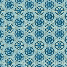 Free Blue Seamless Pattern Royalty Free Stock Photography - 27427047
