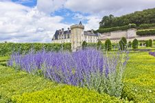 Villandry Castle &x28;Chateau&x29; And Gardens. Stock Photos