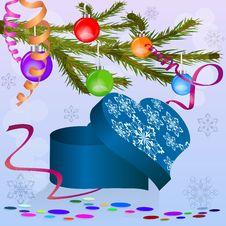 Free Christmas Heart Shaped Box Royalty Free Stock Image - 27429106