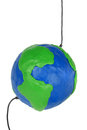 Free Plasticine Globe With Wires Royalty Free Stock Photography - 27434177