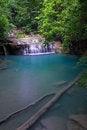 Free Erawan Waterfall In Thailand Royalty Free Stock Image - 27435066