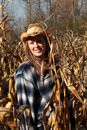 Free Young Lady Enjoying Nature In A Corn Field Royalty Free Stock Photos - 27439298