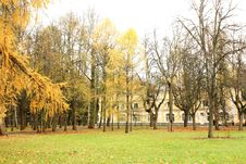 Free Old-time Estate Among The Autumn Trees Royalty Free Stock Photos - 27431228