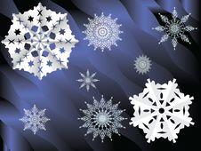 Free Background, Snowflakes Royalty Free Stock Image - 27431326
