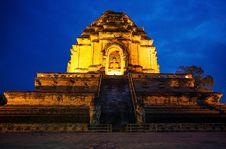 Free Wat Chedi Luang In The Evening. Stock Image - 27434131