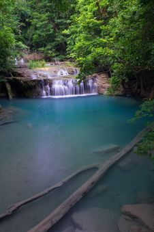 Free Erawan Waterfall In Thailand Royalty Free Stock Image - 27435066