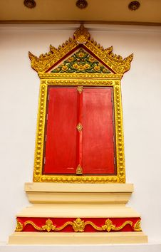 Free Thai Temple Window Stock Images - 27437484